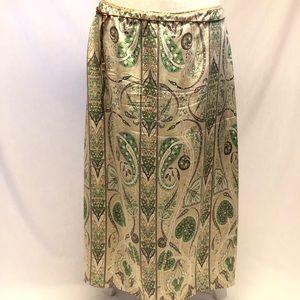 Ellie Tahari silk maxi skirt size 8 w/ belt